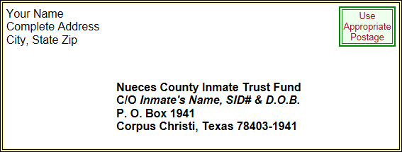 Jail Commissary | Nueces County, TX
